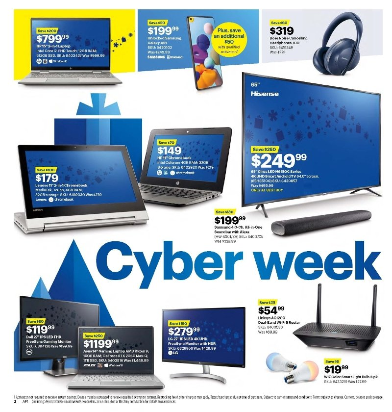 Best Buy Cyber Monday 2020 Page 1