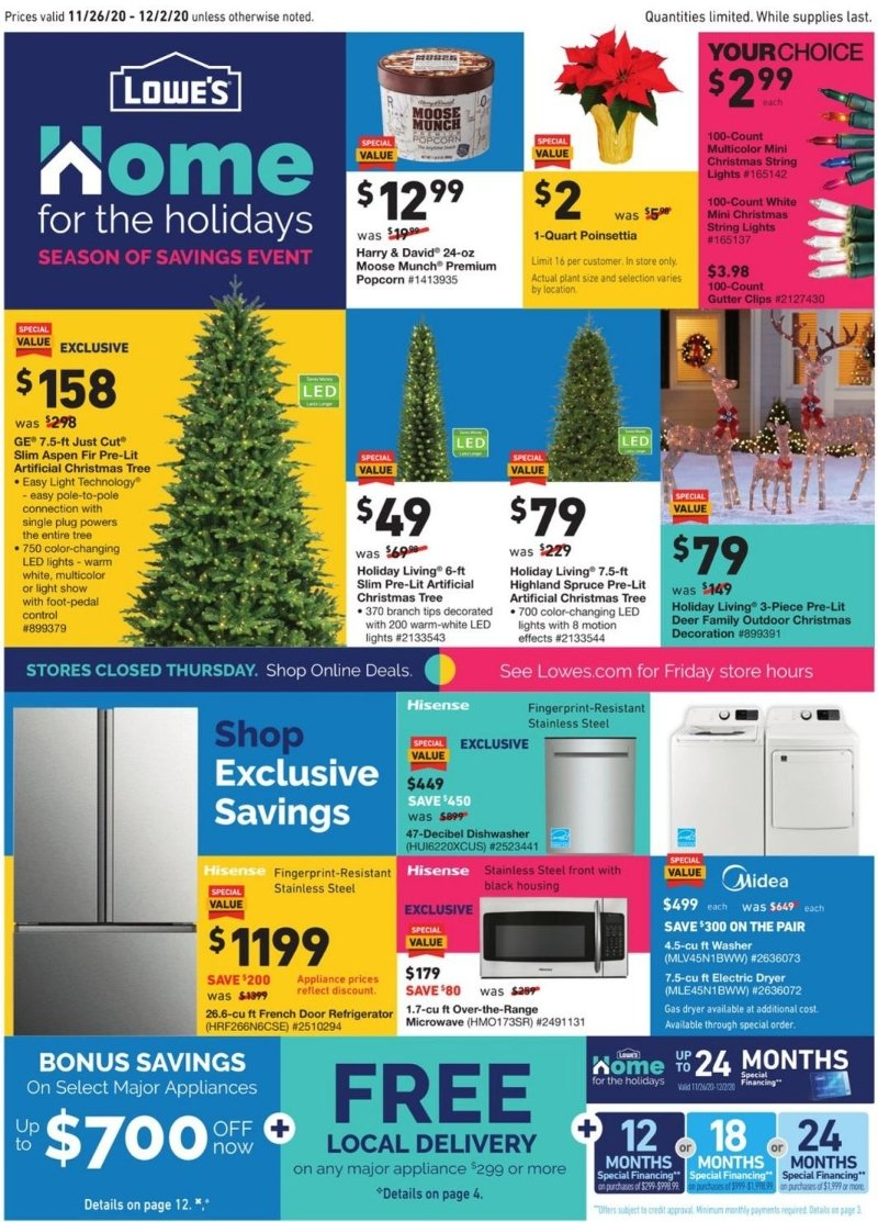 Lowe's Cyber Monday 2020 Page 1