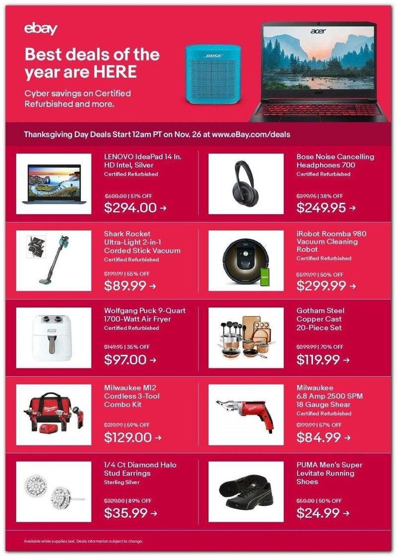 Ebay Black Friday 2020 Page 1