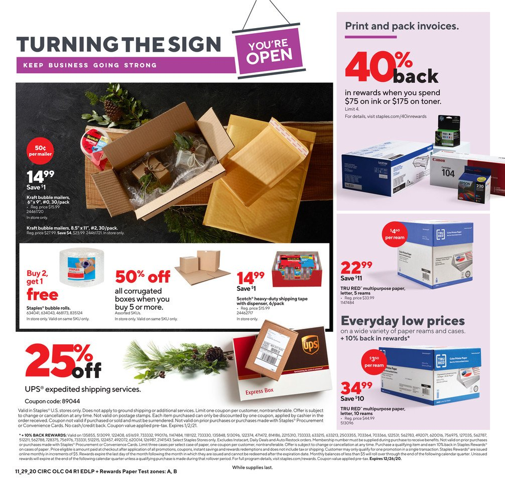 Staples Cyber Monday 2020 Page 4