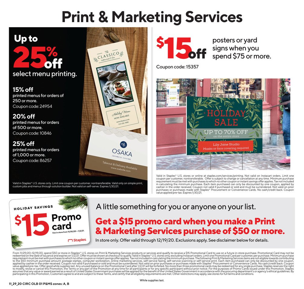 Staples Cyber Monday 2020 Page 6