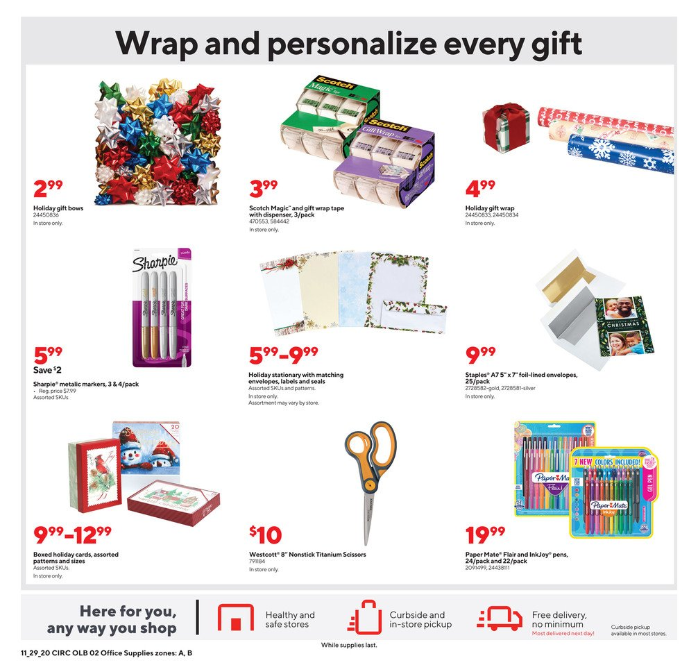 Staples Cyber Monday 2020 Page 7