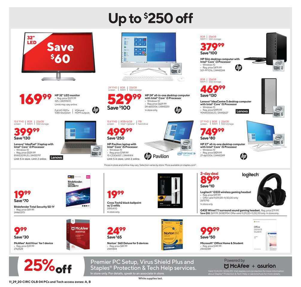 Staples Cyber Monday 2020 Page 9
