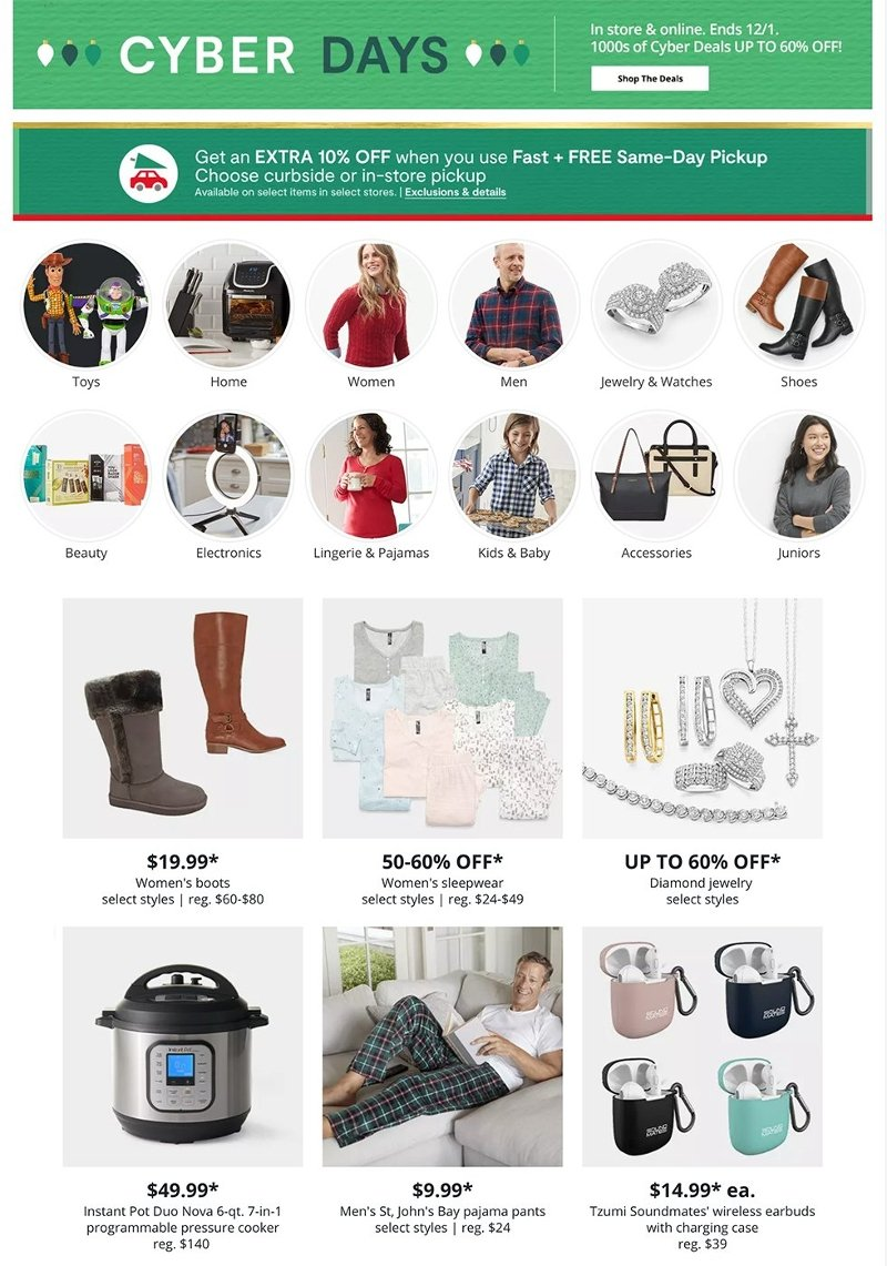 JCPenney Cyber Monday 2020 Page 1