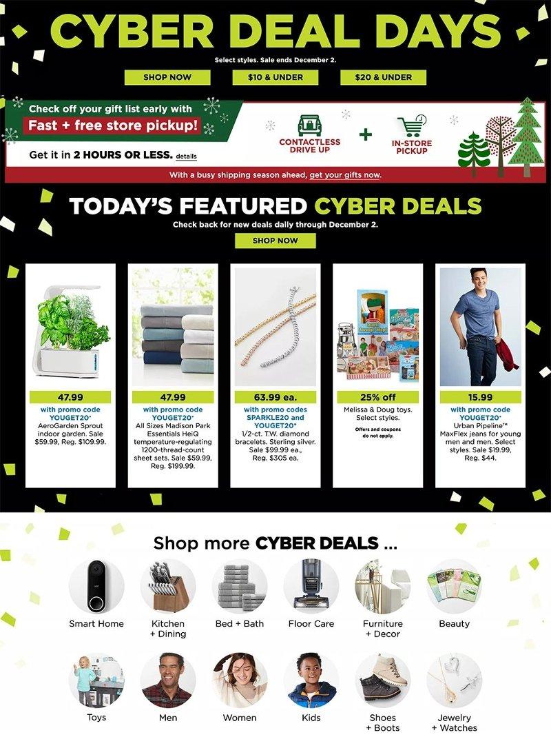 Kohl's Cyber Monday 2020 Page 1