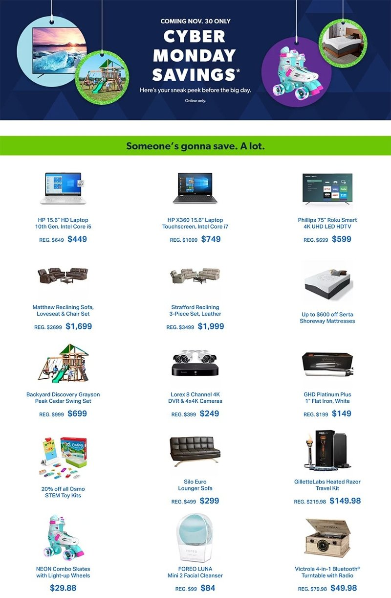 Sam's Club Cyber Monday 2020 Page 1