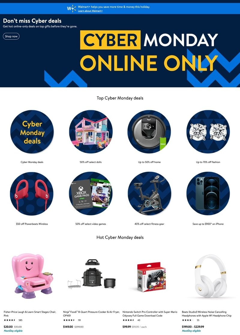 Walmart Cyber Monday 2020 Page 1
